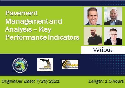 Pavement Management and Analysis – Key Performance Indicators