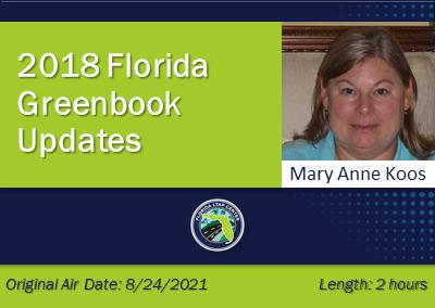 2018 Florida Greenbook Updates